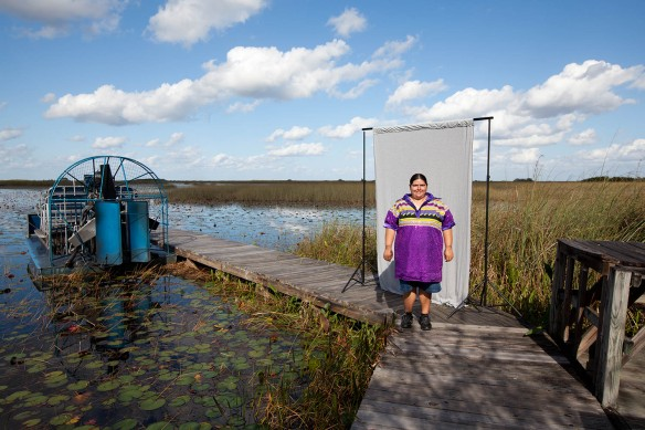 Sheena Tigertail, 29, Miccosukee Indian, Florida (Photograph courtesy: ©Mark Chilvers 2013)