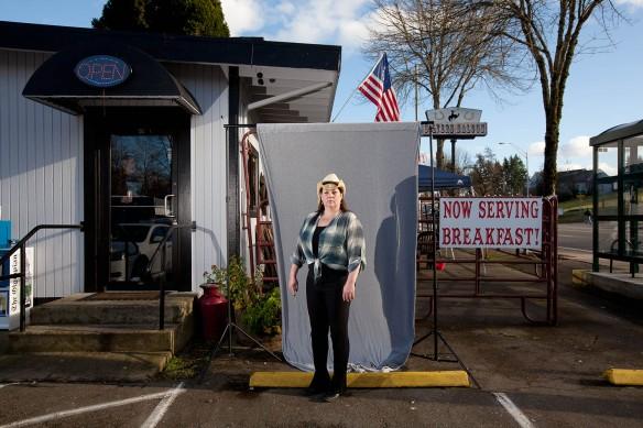 Mary Ballou, 41, barmaid, Olympia, Washington (Photograph courtesy: ©Mark Chilvers 2013)